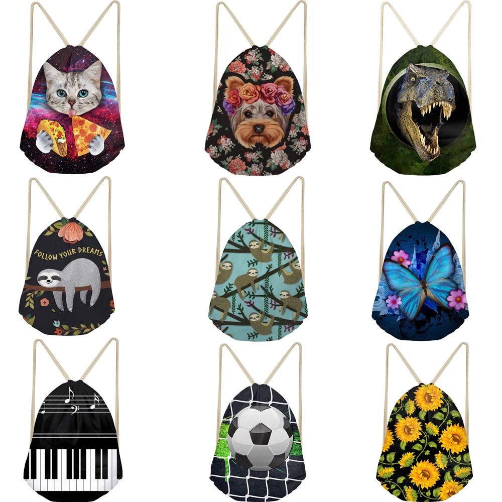 Large Drawstring Bag Backpack Custom 3D Printing Bags Drawstring Bags Unisex Backpacks Bags Drawstring Backpack Shoulder Bag