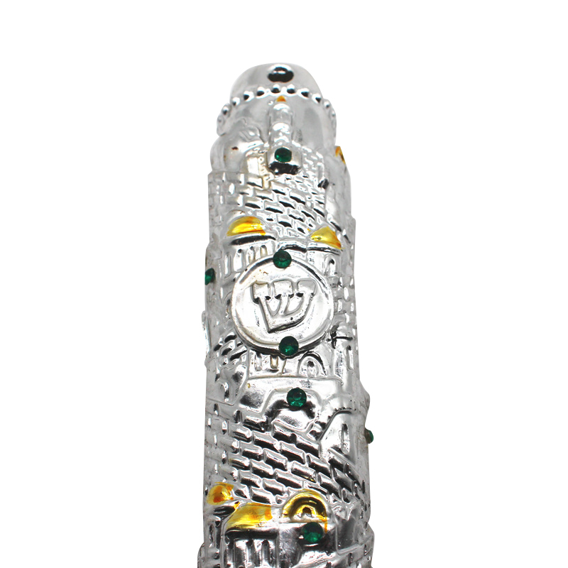Image 2 - Religion Jewish Mezuzah Case Resin Material IsraelJewelry Findings & Components   -