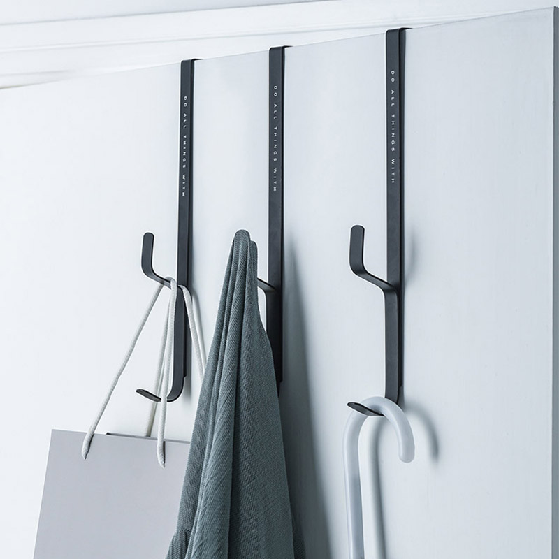 3pcs Door Hanging Towel Coat Hanger Bag Keys Cloth Holder Rack Storage Bedroom Door Hanger Hook Clothes Hanging Rack Hooks
