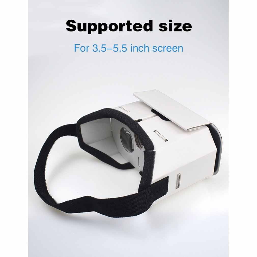 Dla kreatywnych Diy przenośne okulary do VR Google Cardboard 3D okulary pojemnik VR dla 4 Cal-6 Cal inteligentny telefon