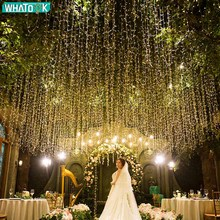 220 В ЕС теплый белый светодиодный строка светильник Свадебные гирлянды световые шторы гирлянда «сосульки»; Рождество; для дома; домашняя обувь вечерние Gard