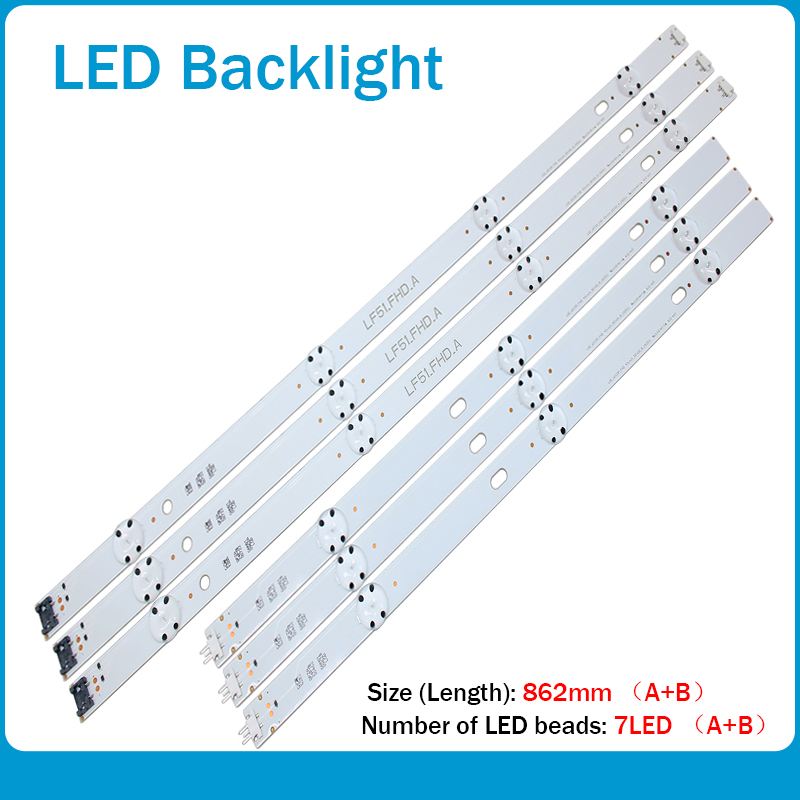 New 30 PCS/set LED Backlight Strip For LG 43LF5100 LF51_FHD_A LF51_FHD_B LGE_WICOP_FHD 43INCH_REV00_A/B_150511
