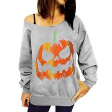 halloween sweatshirts clothes oversized hoodie vintage cotton print womens hoodies pullover printed pumpkin gothic