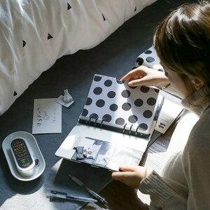 Image 4 - Lovedoki noir blanc à pois journal personnel A5 spirale cahier planificateur organisateur affaires école et bureau papeterie fournitures