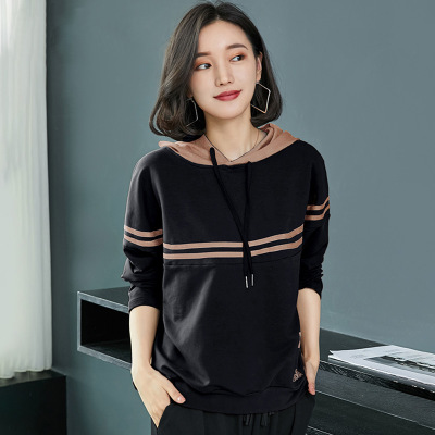 Women Sweatshirt Hoodies Solid Casual Print Loose Plus Size For Women Hoodies