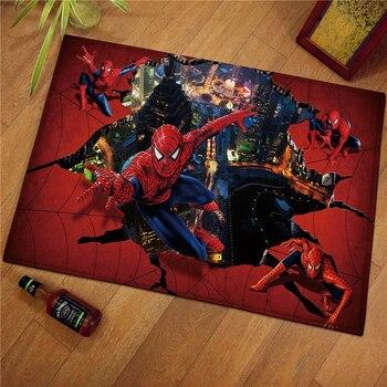 60x40cm Spiderman Children Welcome Floor Mats  Print Bathroom Kitchen Carpets Children Doormats for Living Room kids Rugs doormat carpets chicken print mats floor kitchen bathroom rugs