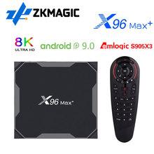 X96MAX Plus2 4 64 Android 9 0 Smart TV Box Amlogic S905X3 Quad Core Dual Wifi 2 4 5 0G 1000M 4 32GB 8K HD X96 MAX S905X3 TV BOX cheap ZKMAGIC 100 Mt CN (Herkunft) Amlogic S905X3 Quad-core 64-bit 16 GB eMMC 32 GB eMMC 64 GB eMMC HDMI 2 0 2G DDR3 4G DDR3 X96MAX S905X3