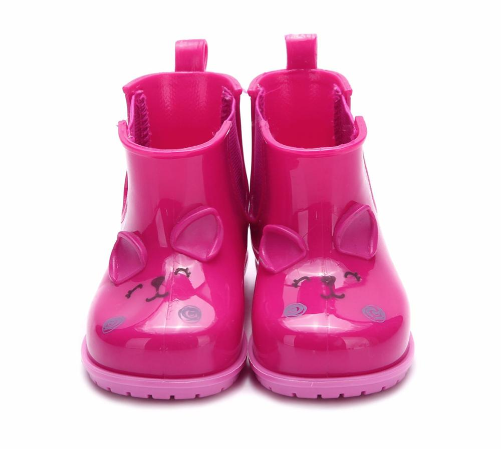 Children Cute Rainboots Kids Girl And Boy Cartoon Rhinoceros Shoes Girls Fashion Jelly Shoes Candy Rainboots MN19013