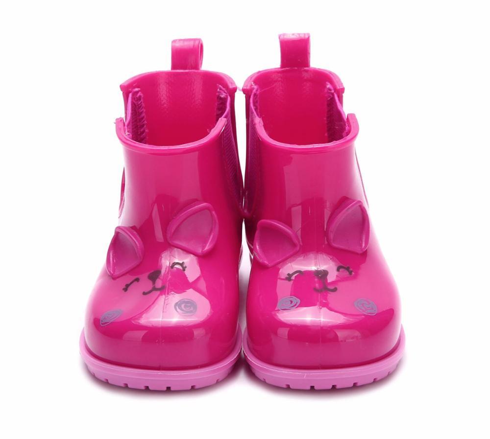Children Cute Rainboots Kids Girl And Boy Cartoon Rhinoceros Shoes Girls Fashion Jelly Shoes Candy Rainboots MN19013
