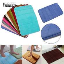 Soft 40*60cm Bath Mat Bathroom Carpet Rug coral fleece Memory Foam kitchen Door Floor Water absorption
