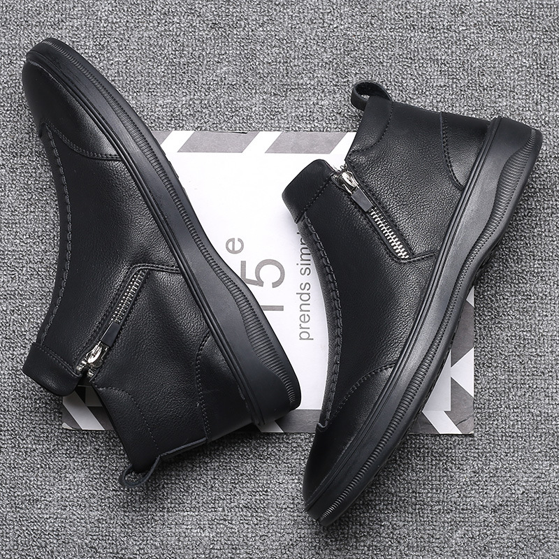 Men Rain boots man Chelsea boots male Ankle boots men Casual Boots Men rubber rain shoes Waterproof Best-selling style G14-35 image