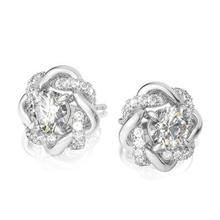 Szjinao VVS1 D Color 1ct Moissanite Stud Earrings Real 925 Sterling Silver Diamond Earrings Flower Wedding Women's Jewelery Gift