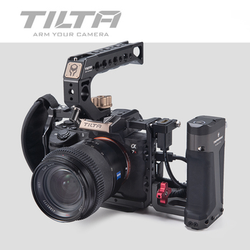 Tilta A7 iii A9 Camera Cage Black Cage For Sony A7 A9 A7III A7R3 A7M3 A7S3 A7 iii DSLR rig Top Handle Focus handle aluminum alloy handheld camera video support kit dslr cage set with follow focus matte box for sony a7s a7 a7r a7rii a7sii gh4