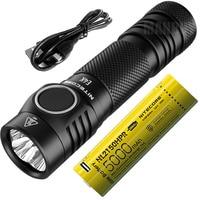 NITECORE 4400 LMs 4xCREE XP L2 V6 LED E4K Compact EDC Flashlight Outdoor Torch +5000mAh 21700 Rechargeable Battery Free shipping