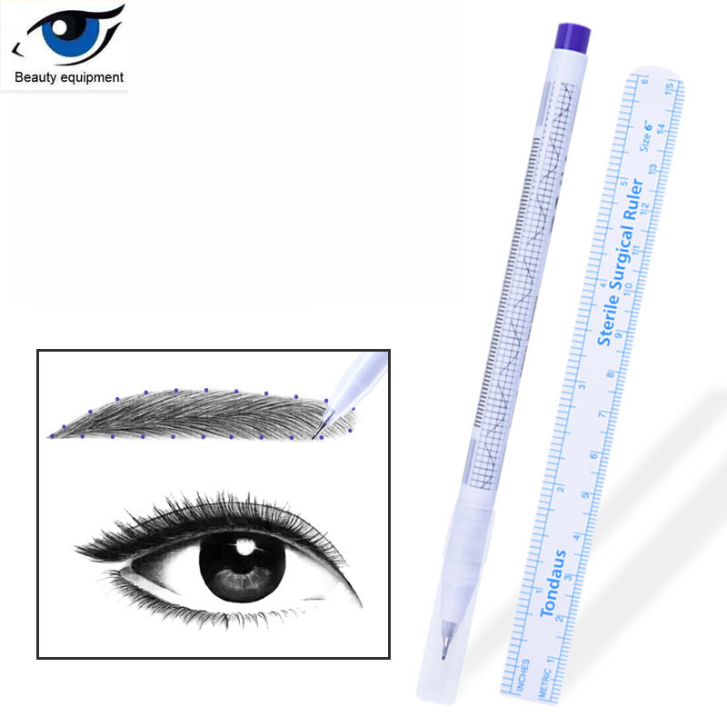 Semi-permanent Waterproof Numb Lip Line Mark Note Pen Eyebrow Positioning Pen Styling Special Tattoo Tools