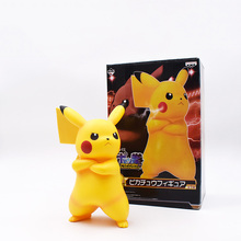 купить Cute Angry Pikachu PVC 18cm Action Figure Pikachu Collection Model Toys With Box  FREE SHIPPING по цене 641.54 рублей