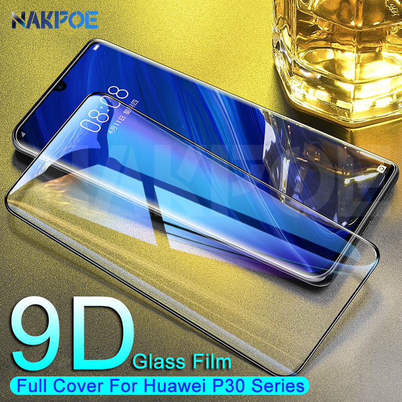 9D Full Cover Tempered Glass For Huawei P30 P20 P10 Lite Plus Screen Protector Huawei P30 P20 Pro P Smart Safety Protective Film