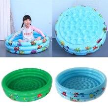 Детский плавательный бассейн надувной круглый для дома ПВХ портативный