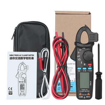ACM82 Mini Digital Clamp Meter Multimeter True RMS Auto Range AC/DC Volt Amp Ohm Frequency Temperature NCV Tester dc ac smart full auto range digital multimeter ncv frequency temperature capacitance tester pm8247s pm8248s