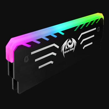 Desktop Memory Heatsink Cooling Clip RGB Light 6 Automatic Color Change RAM Cooling Systerm Double Layer Heat Conduction|Fans & Cooling|   -