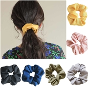 1PC Women Elegant Cotton Solid Elastic Hair Bands Ponytail Holder Scrunchies Tie Hair Rubber Band Headband Lady Hair Accessories