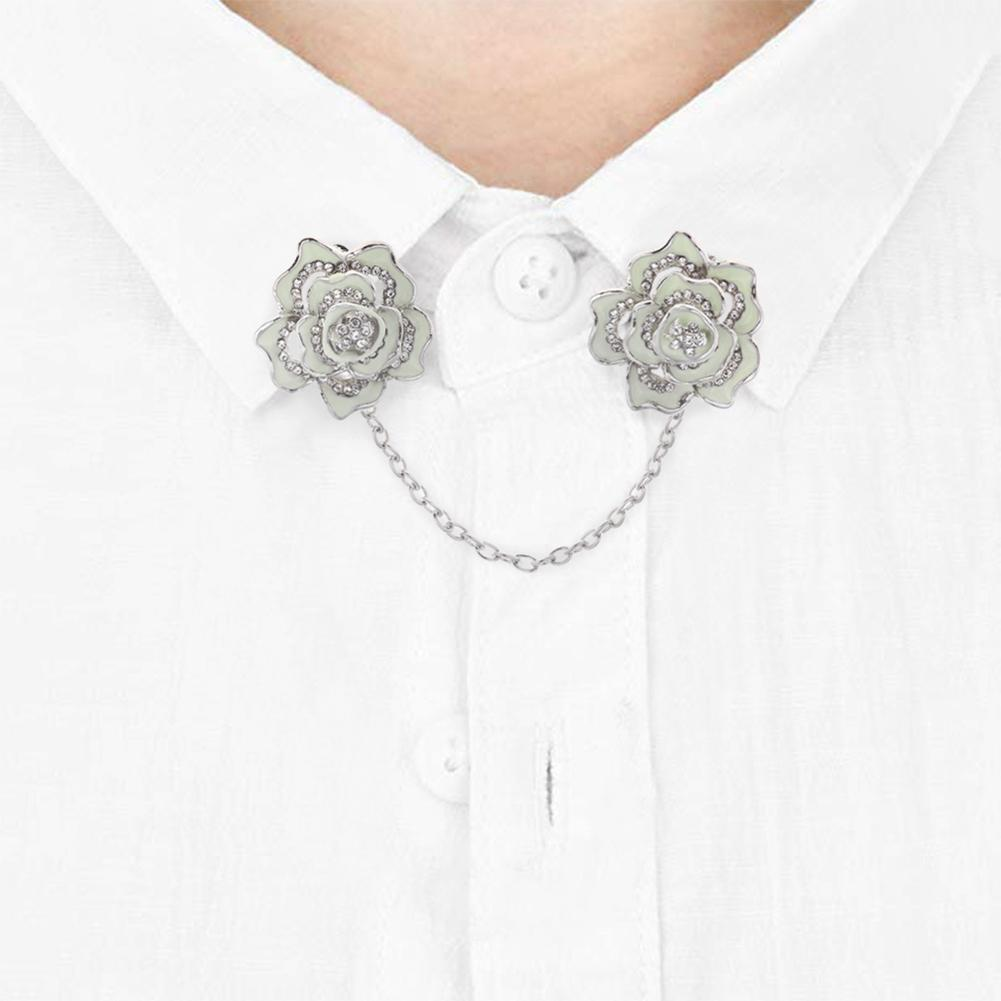 5x Sweater Shawl Cardigan Collar Clips Antique Flowers Dress Clip for Women