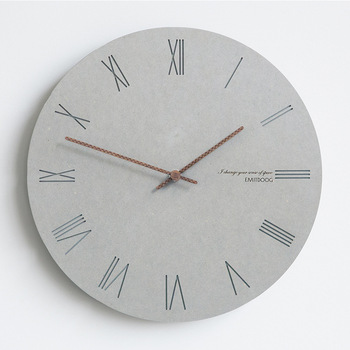 Modern Simple Simple Wall Clock Living Room Grey Silent Wall Watches Home Fashion Creative Nordic Wandklok Home Decor AA50ZB