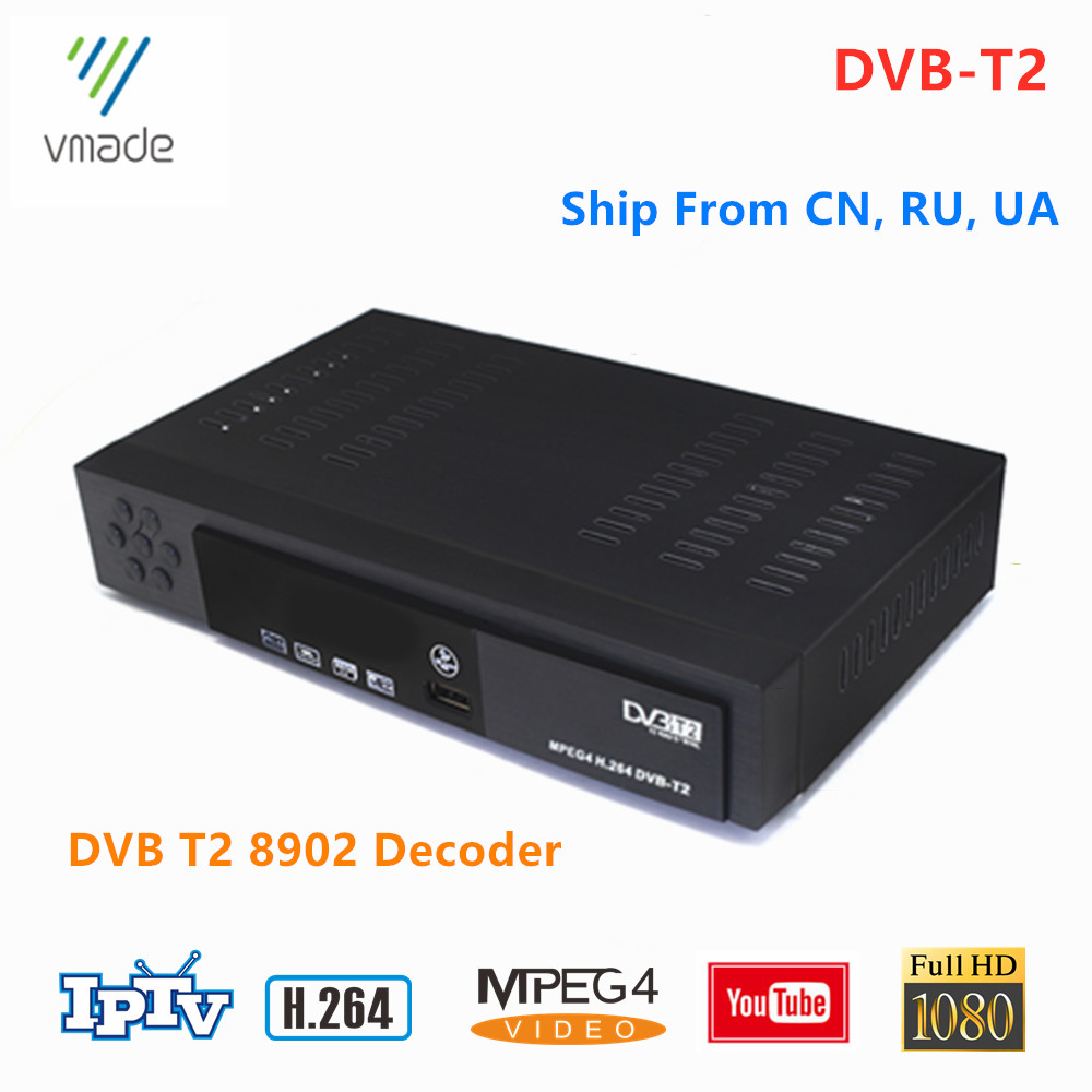 DVB T2 Decoder HD 1080p H.264 MPEG-2/4 DVB T2 Not Support H.265 HEVC Digital TV Receiver Support YouTube DVB-T2 Set Top Boxes