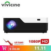 Vivicine M18 1920X1080 vrai projecteur Full HD, HDMI USB PC 1080p LED maison multimédia jeu vidéo projecteur Proyector Support AC3