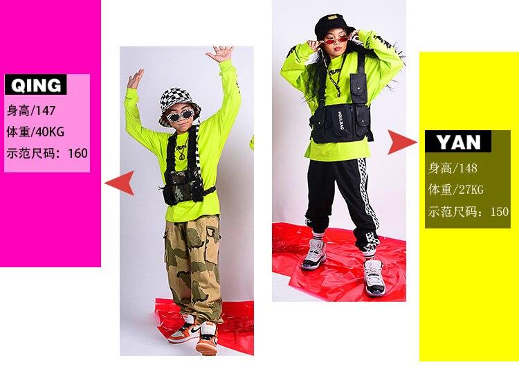 Camuflagem Calças Jazz Palco Outfit DQS2692