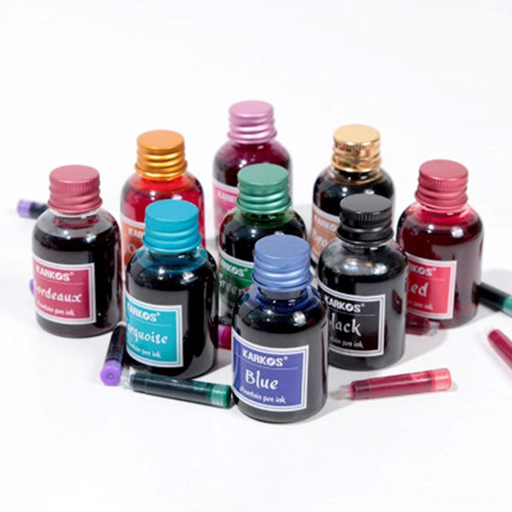 30ml Pure Colorful Bottled Fountain Pen Ink Refilling Inks Hight Quality Glass Pen Ink Cartridge Stationery School Office Supply