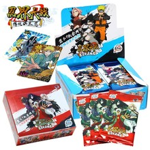 Narutoes Deluxe Edition Anime Figures Hero Card Collect Uzumaki Character Card Collection Bronzing Barrage Flash Cards Boy Gifts