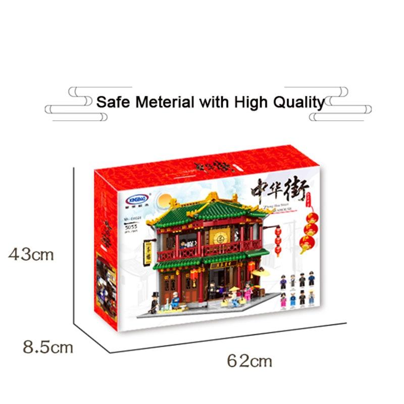 Xingbao 01021 3033 Uds serie de construcción china Casa de Té Toon montar bloques de construcción juguete educativo construcción ladrillos - 3