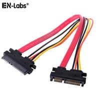 Cable de extensión SATA 3, conector adaptador SATA de alimentación de datos HDD Cable cambiador de género, disco duro SATA III 6 Gb/s Serial ATA Cable de PC