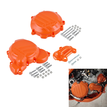 Motorcycle Clutch Water Pump Ignition Cover Guard Protector For KTM 250 300 SX XC 250 300 EXC EXC XC-W TPI 2019 2020 Plastic