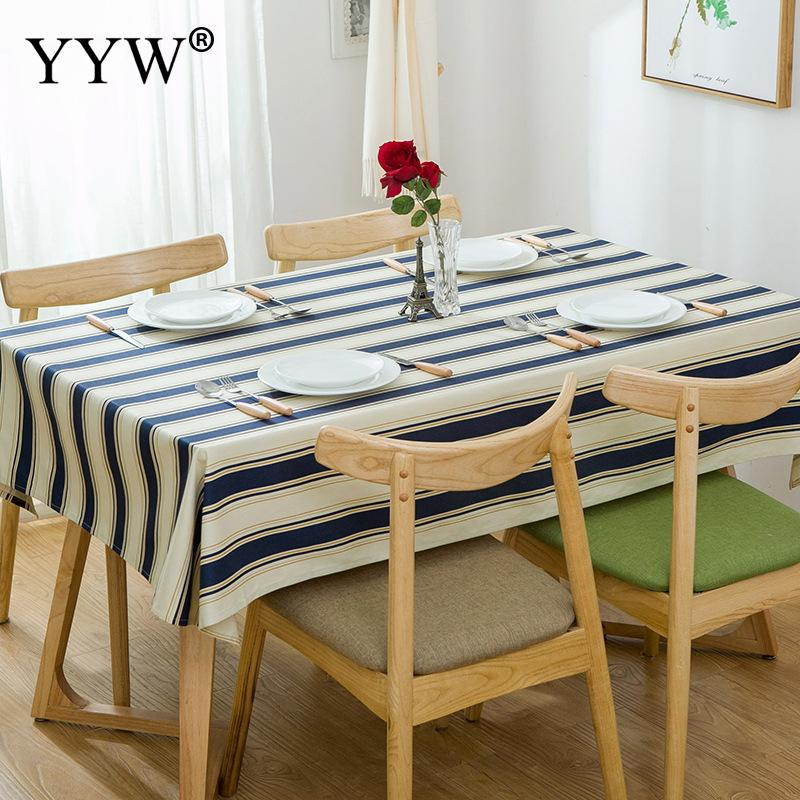 Modern Striped Tablecloth Cotton Table Cloth Rectangular Tablecloths In Fabric Toalha De Mesa Decor Table Cover For Home Party