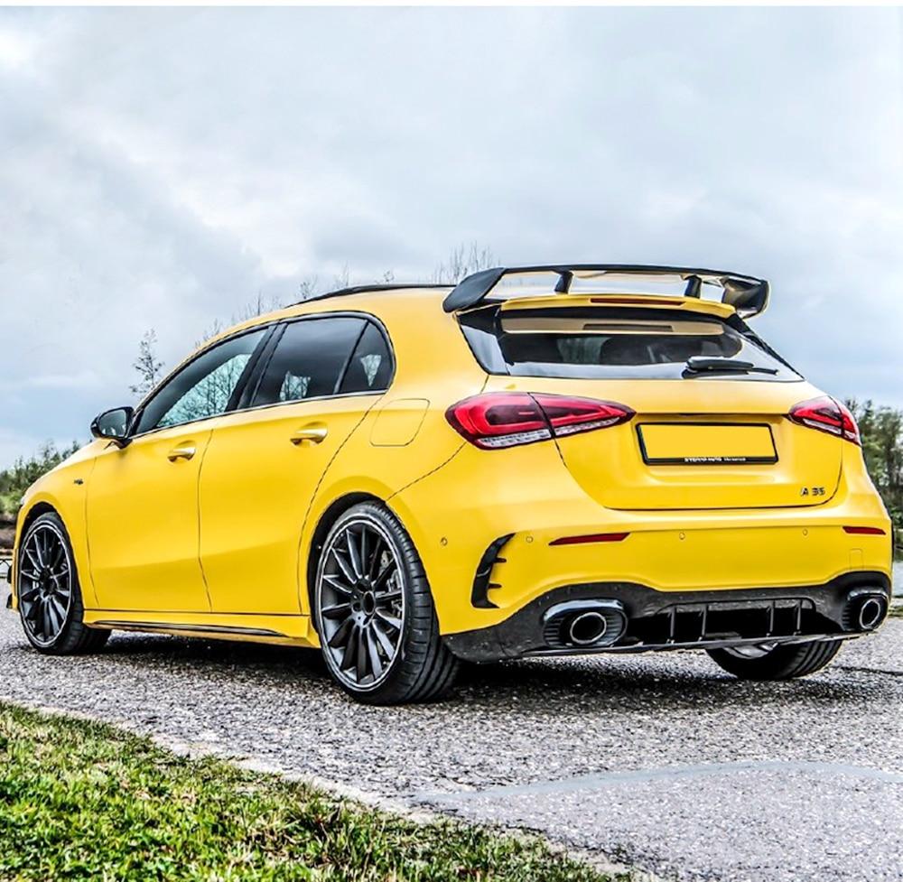Alerón trasero para Mercedes Benz W177 Hatchback Clase A A180 A200 A250 A260 y A45 AMG 2019 2020 ABS plástico negro rojo Color