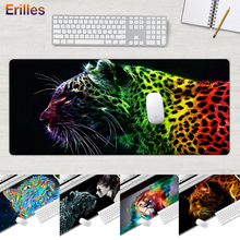 Big Size Mouse Pad Anime Anti-Slip Edge Control Gaming Keyboard Cool Tiger Desk Mat for PC Computer Laptop Rubber