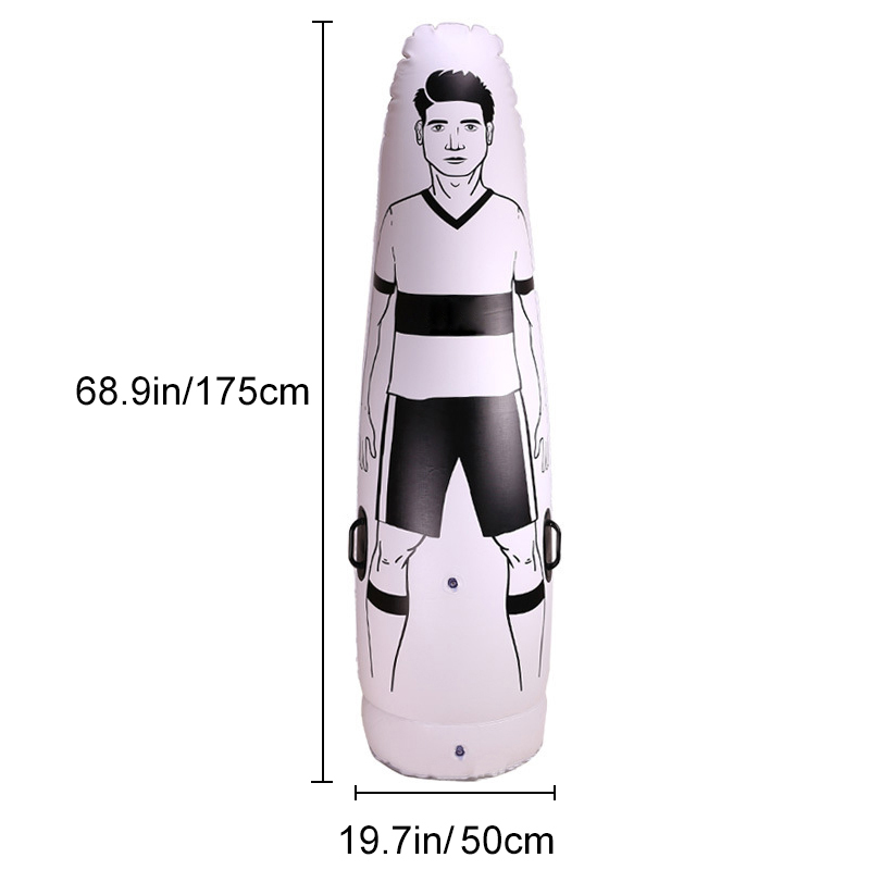 1.75m Adult Inflatable Football Training Goal Keeper Tumbler Air Soccer Train Dummy Mannequin PVC Inflatable Toggle Wall Mounted