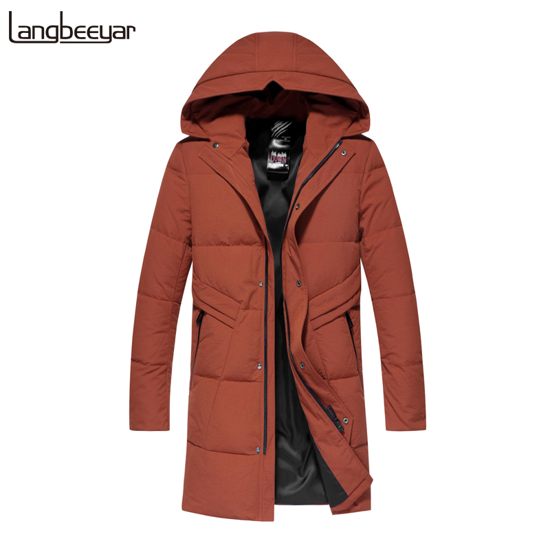 Top Grade 90% Duck Down 2019 Winter Fashions Brand Down Jacket Men Korean Feather Coats Hooded Duck Down Warm Men Clothing