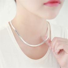 Женское ожерелье из серебра 925 пробы с застежкой карабином