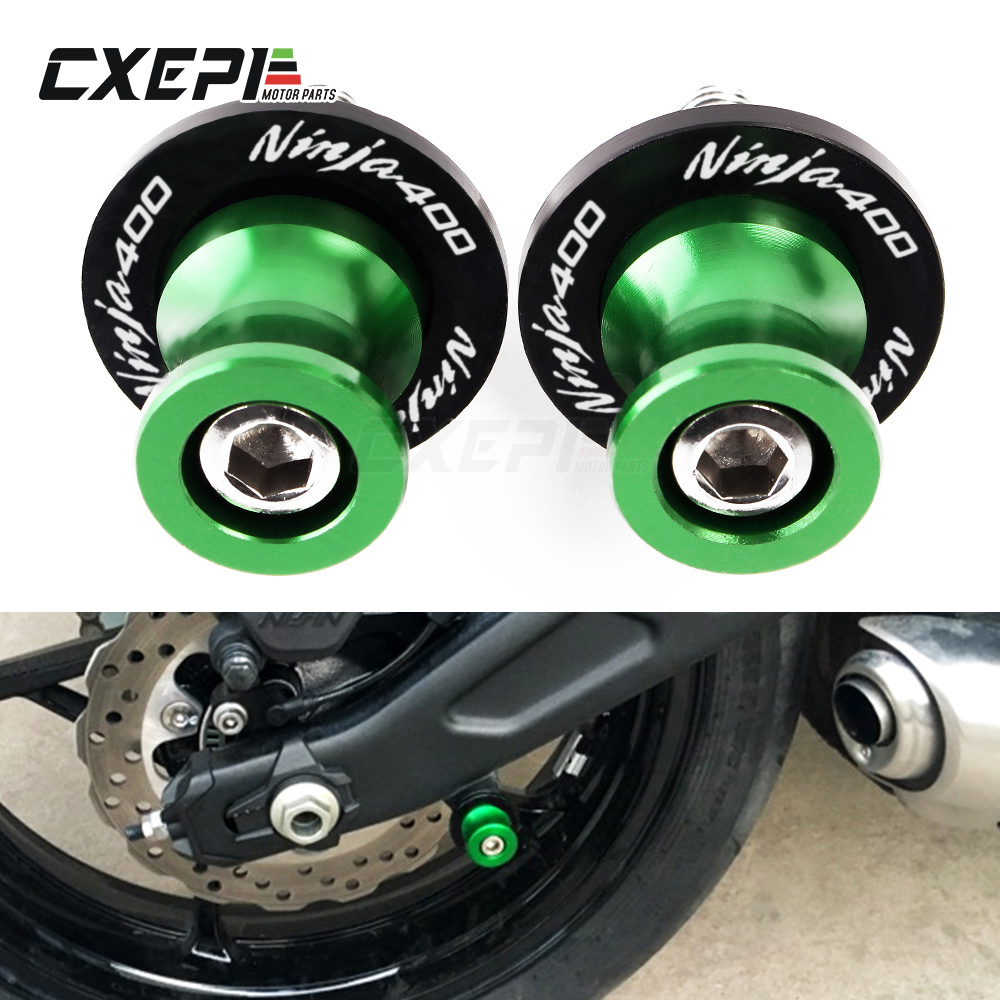 8MM Motorcycle Swingarm Sliders Spools CNC Swing Arm Fit For Kawasaki ZX1000 Ninja ZX-10R 2011-2012