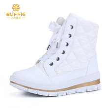 Women boots winter snow boot female short shoes fleece warm lining no-slip outsole fashion look white black colour free shipping