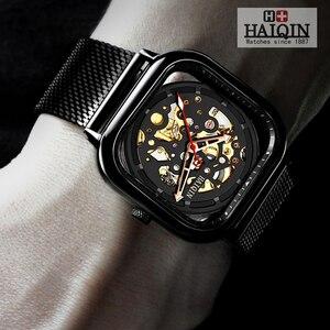 Image 5 - Haiqin 2019 relógios masculinos, moda mecânica homens relógios top marca de luxo esporte relógio de pulso homens à prova d água relógio de quartzo masculino