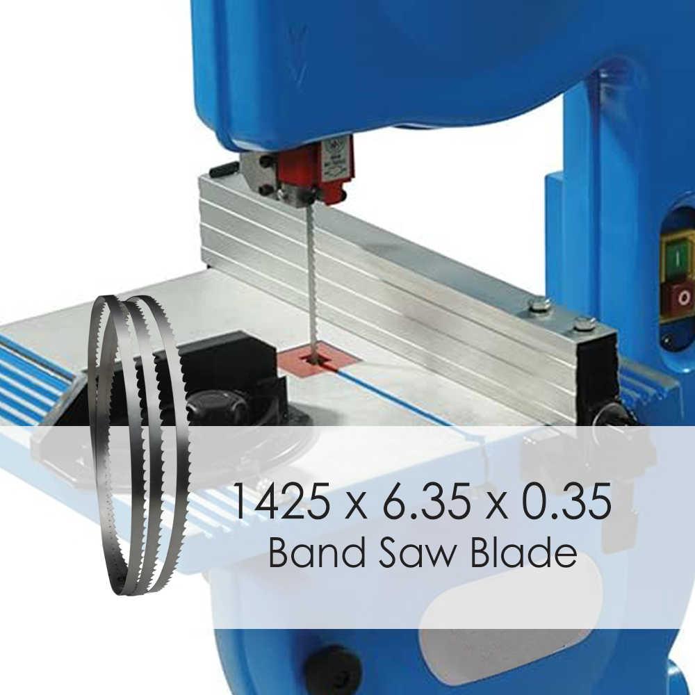 """1 adet 1425x6.35x0.35mm şerit testere bıçakları ağaç İşleme araçları için 8 """"inç ahşap şerit testere kesme TPI 6 10 14"""
