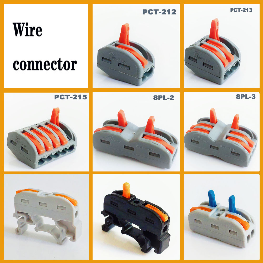 Wire Connector Waterproof Fast Power Connector Wire Terminal Block PCT-212 PCT-213 Terminal New Plug-in Electrical Connector