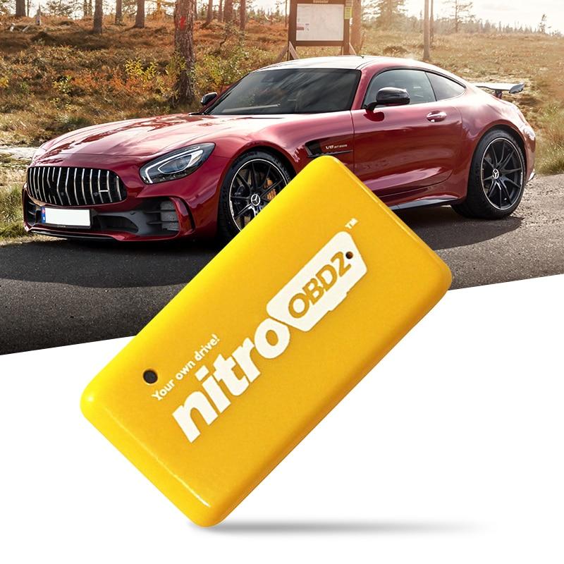 1 Uds ECO OBD2 Nitro OBD2 Chip completo de caja para mejor rendimiento Nitro OBD2 EcoOBD2 macho conductor para bencina diesel auto OBDII interfaz