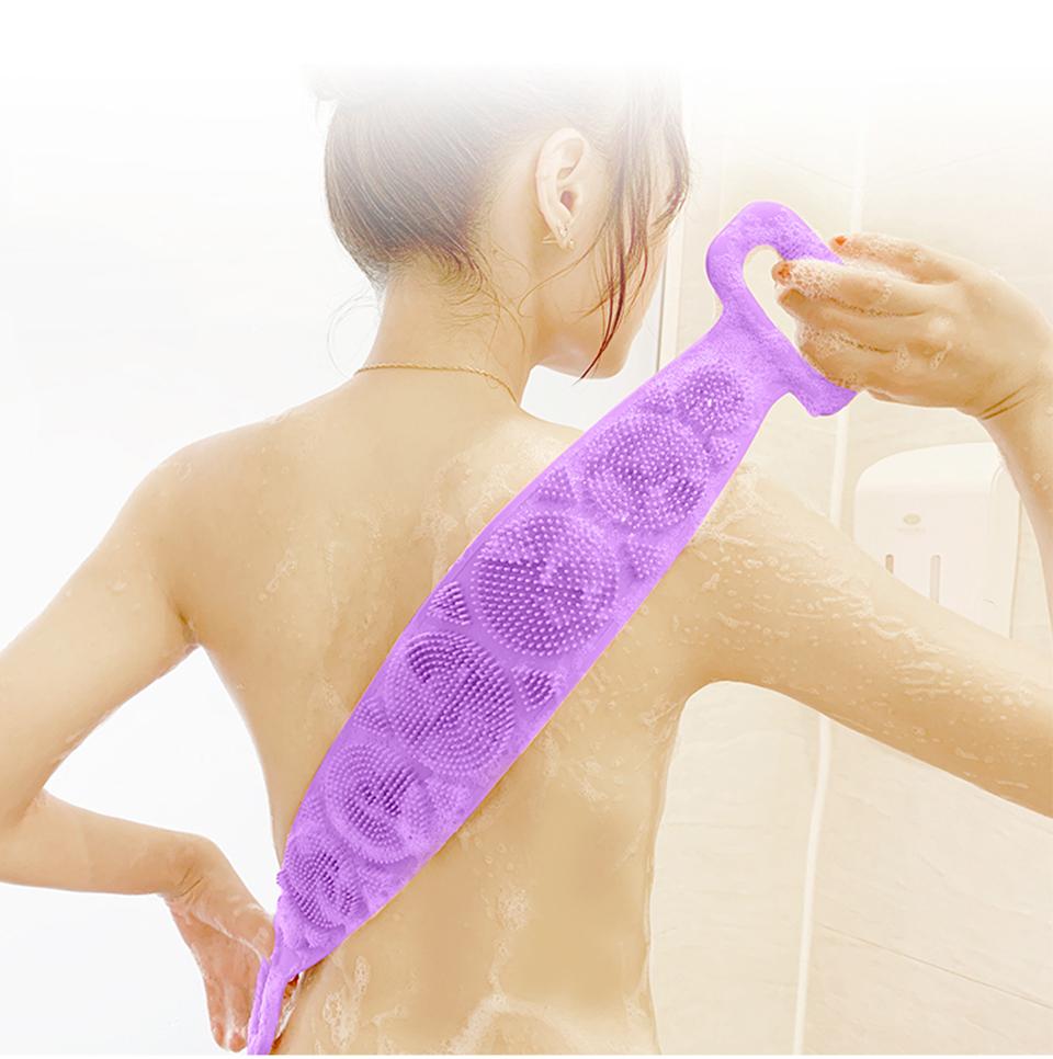 Bath Towel Silicone Rubbing Back Towel allinonehere.com