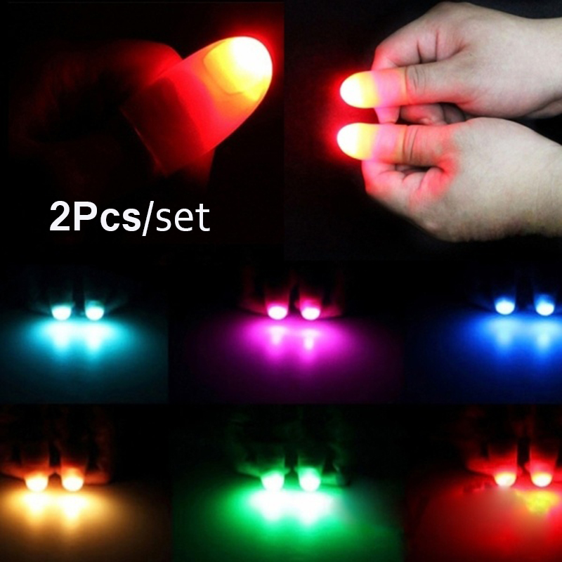 1 Pair Magic Super Bright Light Up Thumbs Fingers Trick Close Up Appearing Light