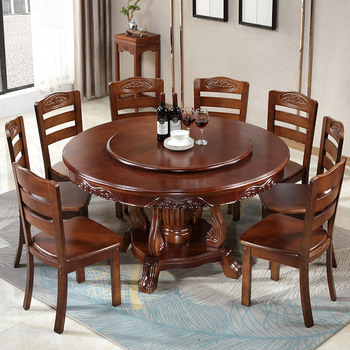 Round Dining Table Set w/ Turntable  1